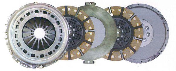 Heavy duty dual-disc clutch